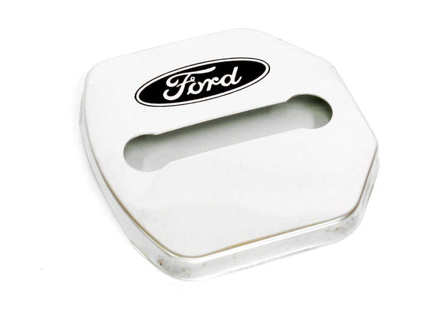 Chrome Door Lock Protective Covers (Ford)