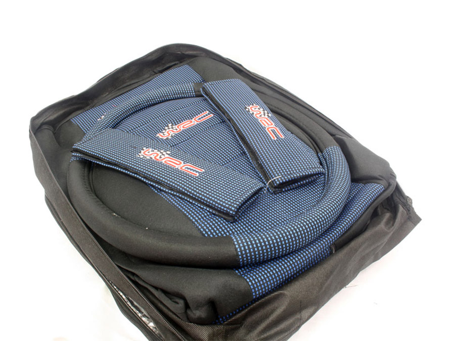 Universal Seat Cover with Steering Cover & Shoulder Pad Kit (blue)