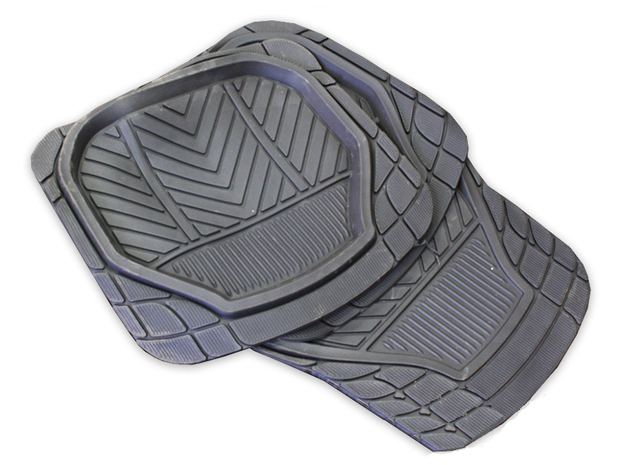 Stingray Deep Trough Rubber Floor Mats (set of 4)