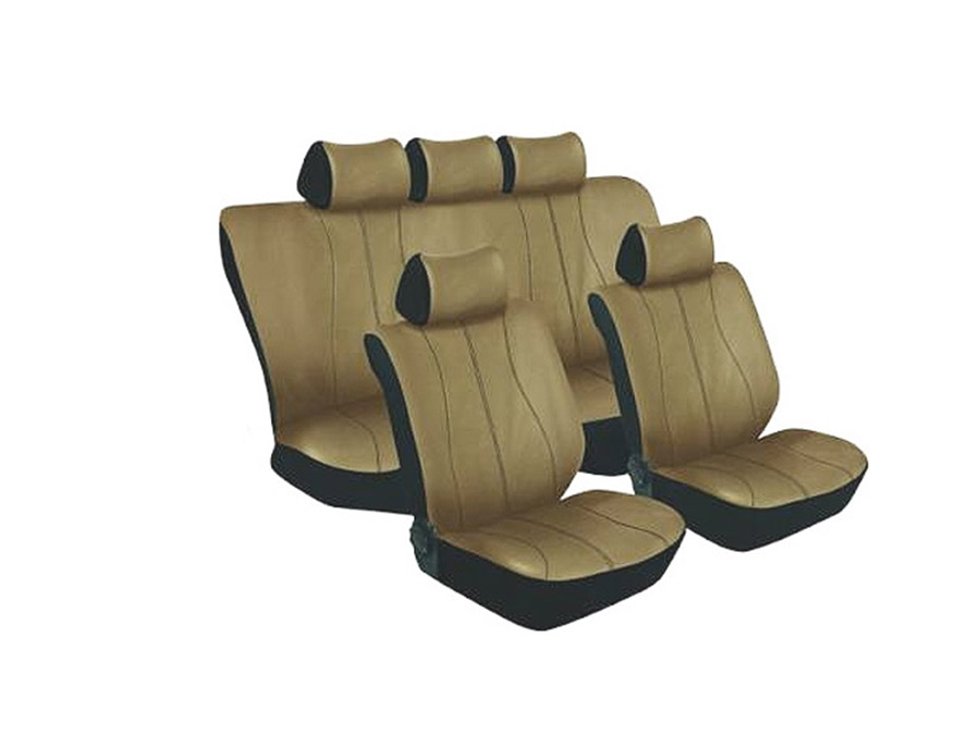 Stingray Galaxy Leather Look 11pc Seat Cover Set (beige)