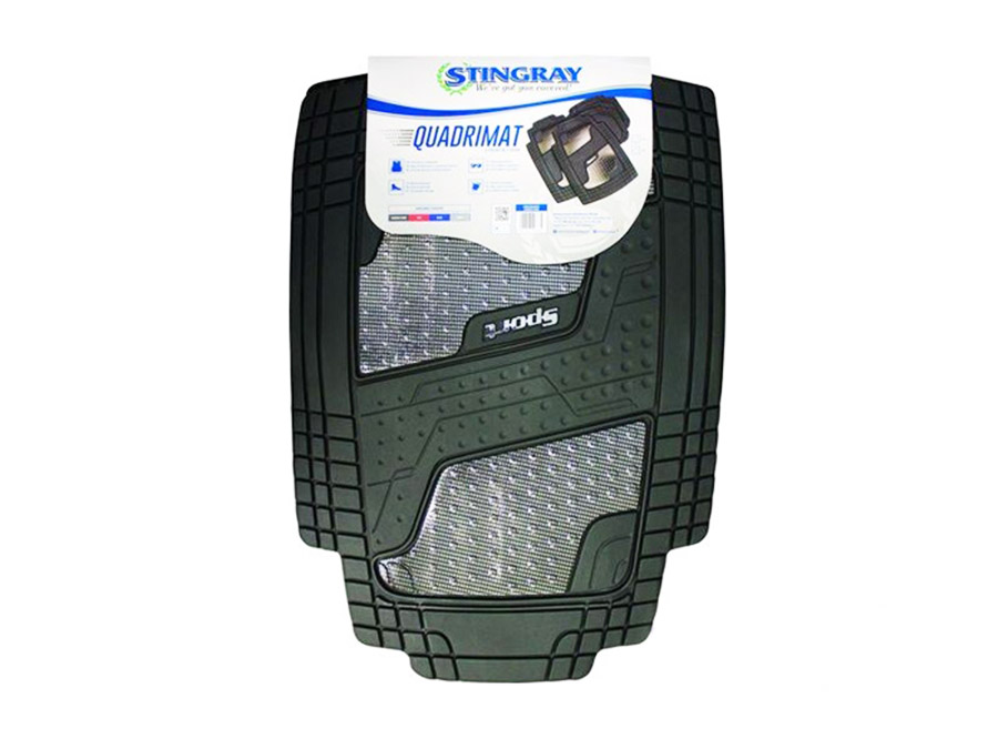 Stingray Quadrimate 4pc Rubber Car Mats (carbon fibre)