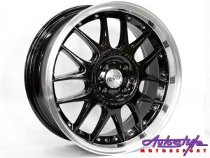 "17"" Evo Fox Legend Gloss Black 4/100 Alloy Wheels-0"