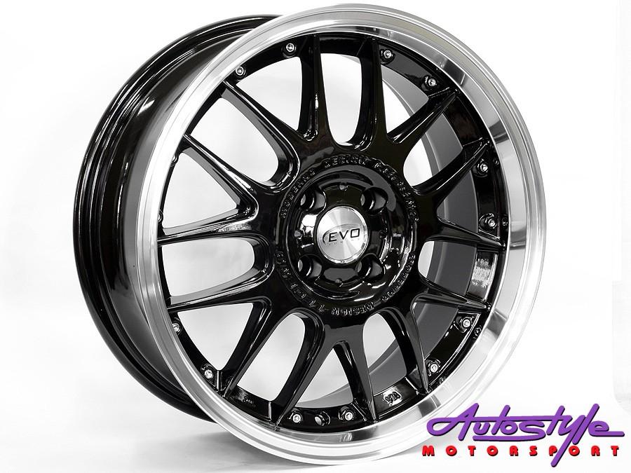 "17"" Evo Fox Legend Gloss Black 4/100 Alloy Wheels-0"