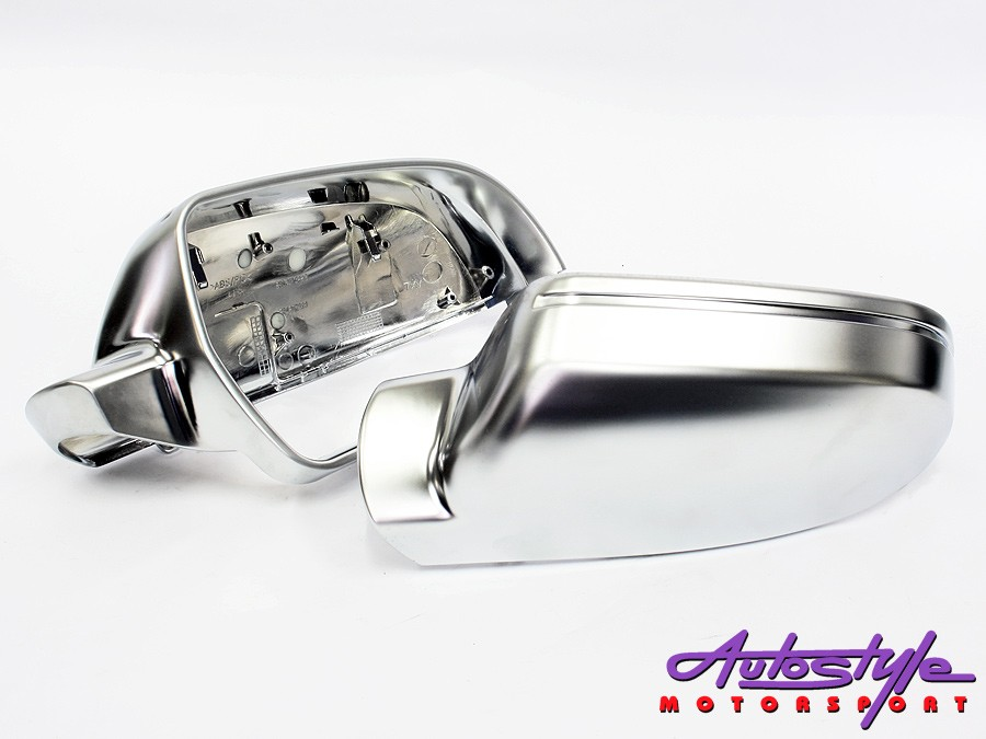 Silver Mirror Covers for Audi A4 B9