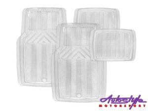 Stingray - Techno Clear PVC Car Mats - 4 Piece Set -0