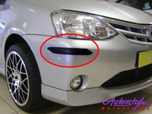 Toyota Etios OEM Spec Plastic Bumper Guard Stripes (hatch)-0
