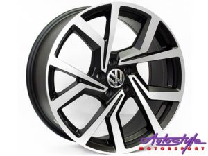 "18"" BK5125 5/112 Matt Black Machine Polish Wheels-0"