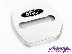 Chrome Door Lock Protective Covers (Ford)-0