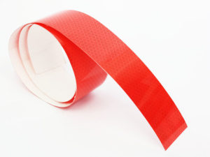Adhesive Reflector Warning Tape 1metre (red)-0