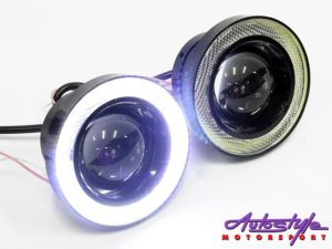 Universal CREE Led Spotlamp with Angel Eye Ring (89mm)-0