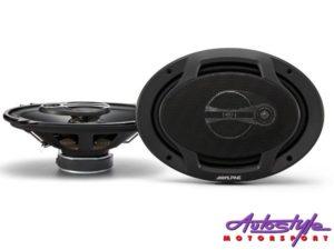 """Alpine SPJ-691CS 400w 2way 6x9"""" Speakers-0"""