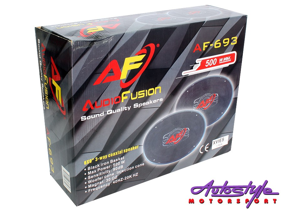 "AudioFusion 6x9"" 500w 3way Speakers-26092"
