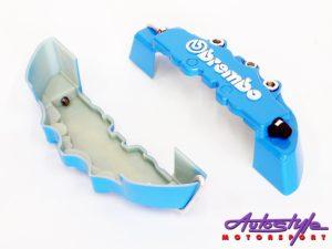 Brembo Dummy Brake Caliper Covers (Blue small)-0