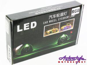 LED Car Fender Eye Brow Lighting (RGB)-26164