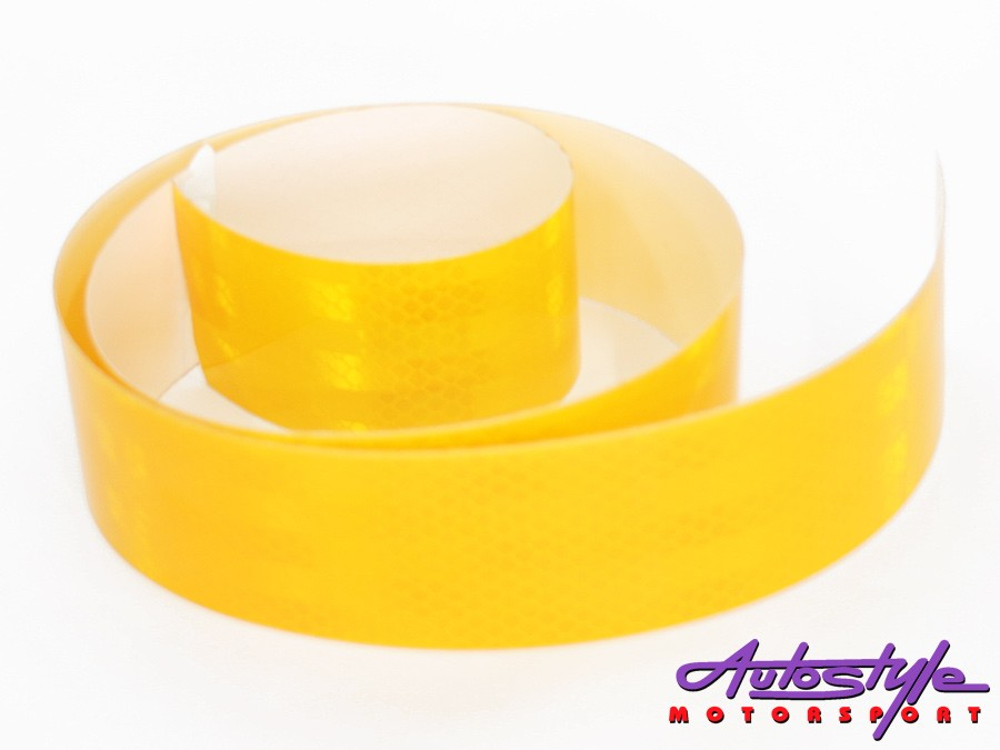 Adhesive Reflector Warning Tape 1metre (yellow)-0