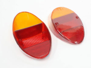 VW Beetle Classic 61-67 Rear Lamp Lenses (pair)-0