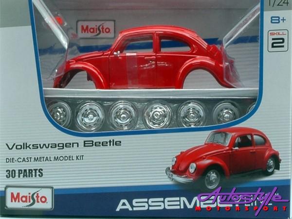 Maisto 1:24 VW Beetle Assembly Model Car-0