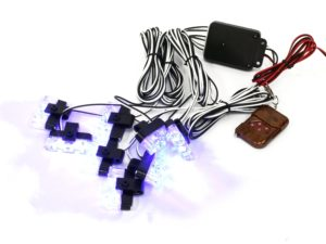 White LED Grille Mount Strobe Light Kit (blue)-0