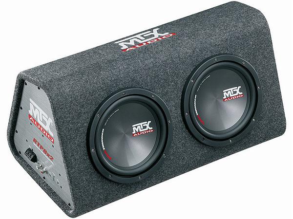MTX RTP8X2 Double 8″ Sub & Amplifier Enclosure Combo