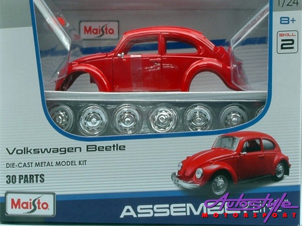 Maisto 1:24 VW Beetle Assembly Model Car-0