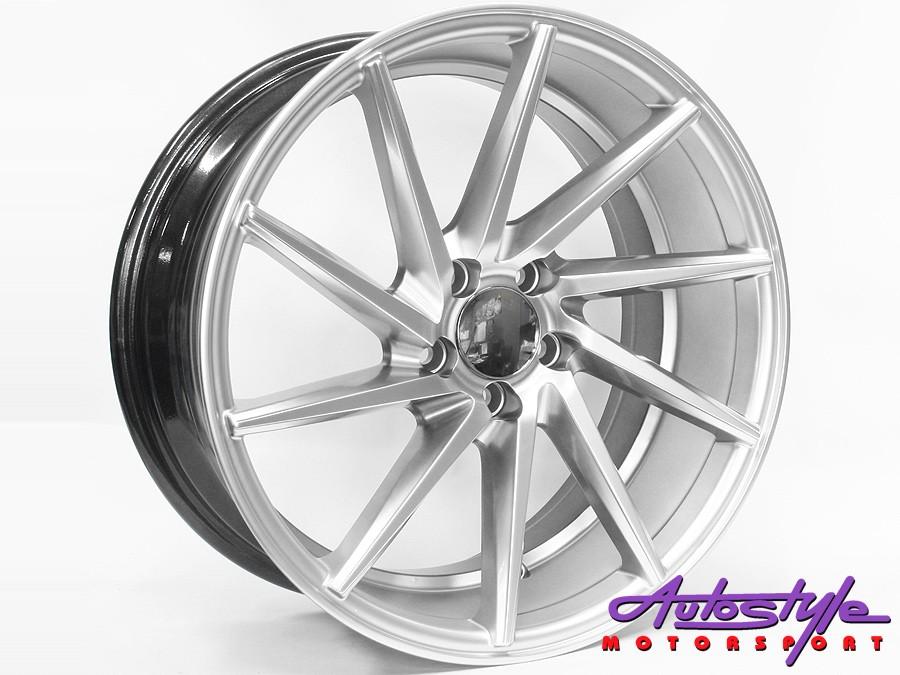 17″ QS CVT 0056 5/100 Hypersilver Wheels