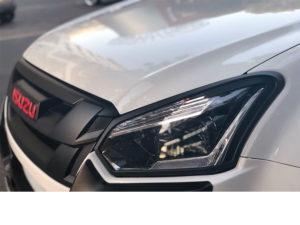 Isuzu D-Max 2016+ Matt Black Headlight Trims-0