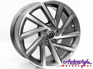 "17"" QS R-Performance Gunmetal 5/100 Wheels-0"