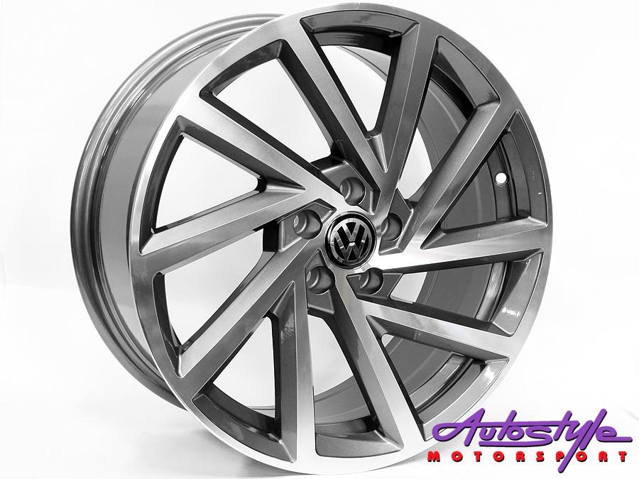 """17"""" QS R-Performance Gunmetal 5/100 Wheels-0"""