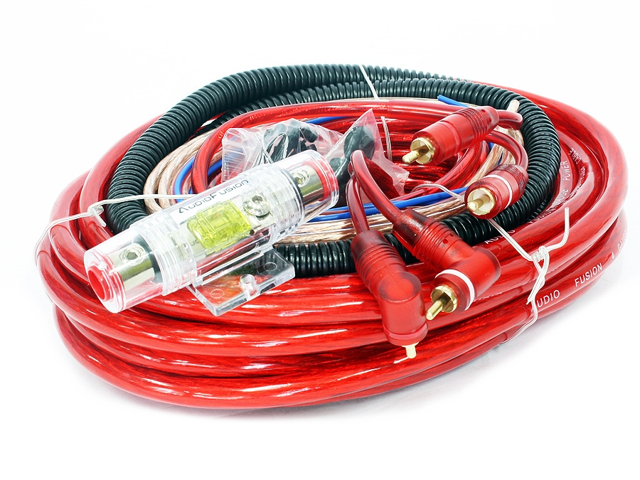 AudioFusion 4gauge Professional Car Audio Wiring Kit