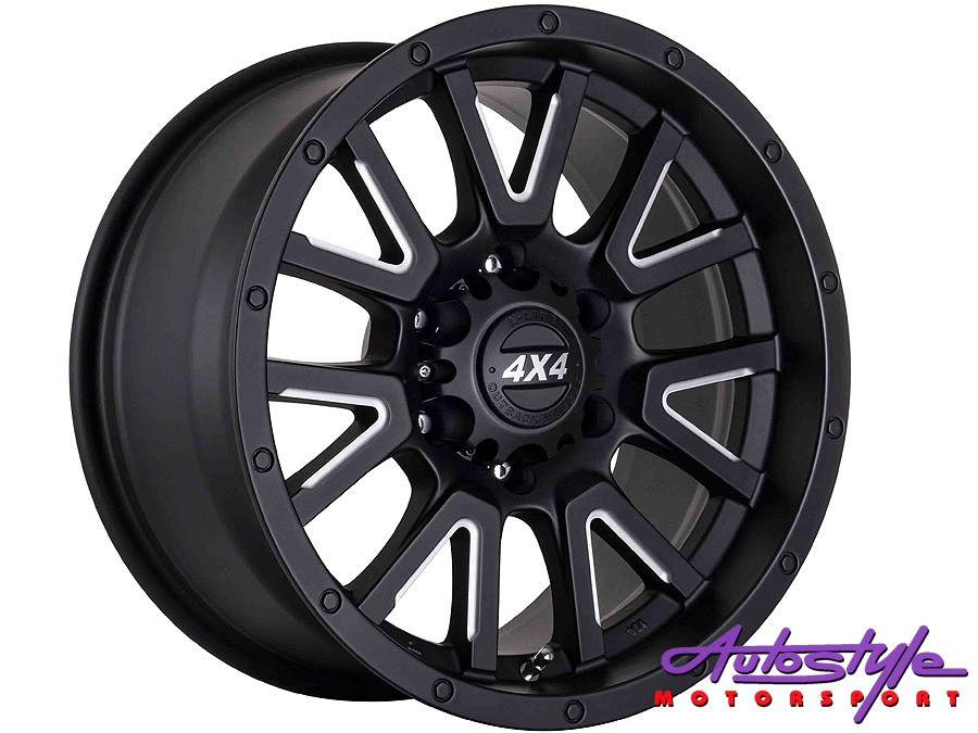 """15"""" A-Line Volcano 6/139 STBKM Alloy Wheels-0"""