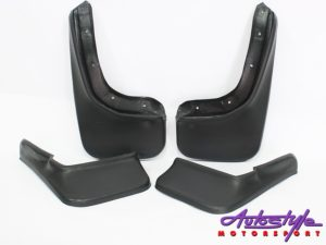 VW Polo 6R 2010-2013 Long Plastic Mudflaps (set of 4)-0