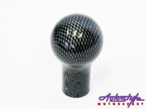 Carbon Fibre Look Classic Round Gear Shift Knob-0