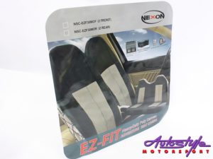 NX EZ-Fit Canvas Rear Seat Covers (mocha brown)-0