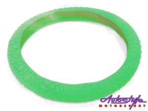 NX Racing Silicon Steering Wheel Cover (neon green)-0