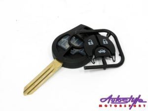 Blank Key For Nissan Micra (3button)-0