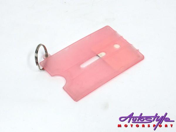 Plastic Drivers License Card Holder Keyring