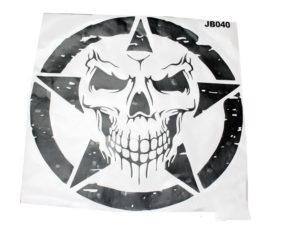 Jeep Door Sticker Set (skull star)-0