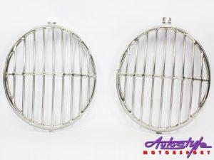 VW Beetle Classic 50-67 Porsche Style Headlight Grilles (pair)-26825
