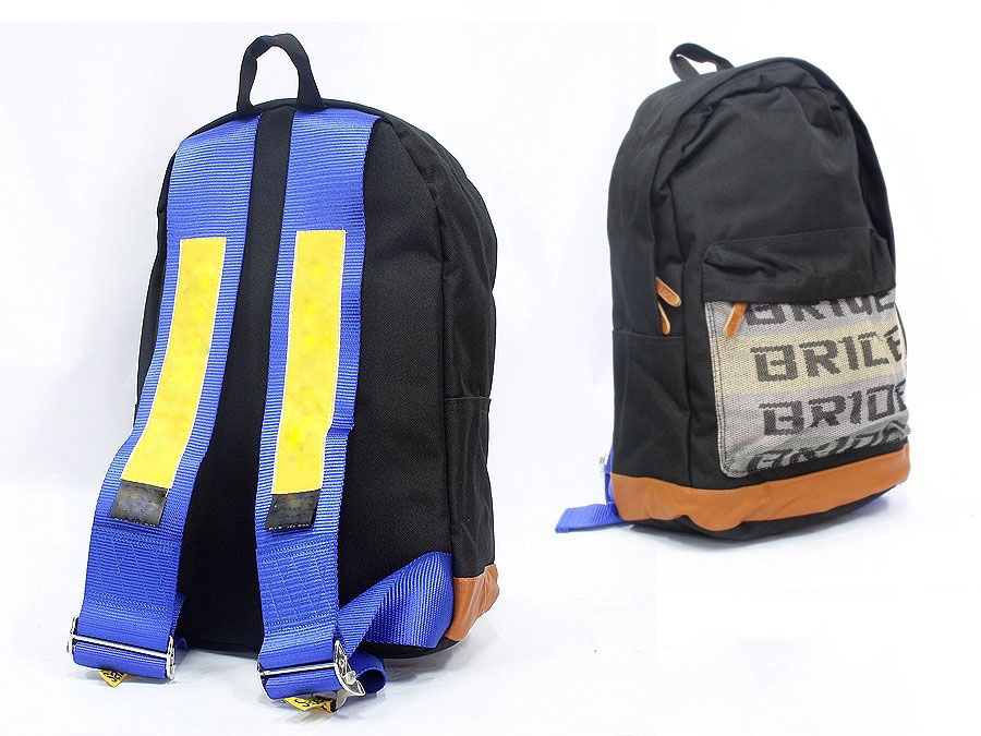 Racing Harness Style Backpack (yellow/blue)