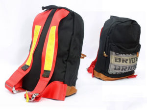 Racing Harness Style Backpack (yellow/red)-0