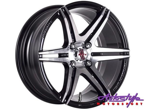 15″ A-Line Trendz 4/100 BKMF Alloy Wheels