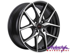 "17"" A-Line Tatum 4/100 BKMF Alloy Wheels-0"