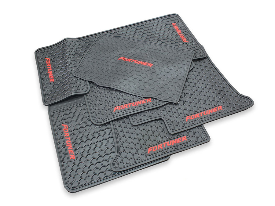 Toyota Fortuner 2012-2015 Rubber Floormats (6pc set)