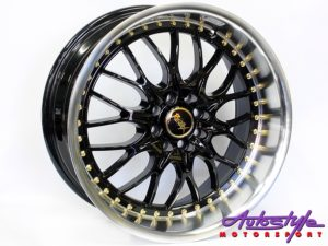 "17"" QS Ri-Zex 4/100 & 4/108 BLK Alloy Wheels-0"