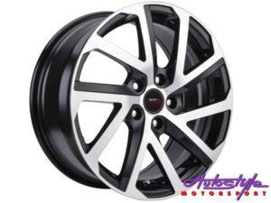 """15"""" A-Line Gear 5/100 BKMF Alloy wheels-0"""