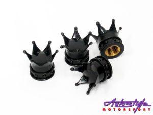 Crown Design Wheel Valve Caps-0