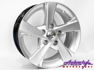 "15"" Axe TYT-3 5/114 Hypersilver Alloy Wheels-0"