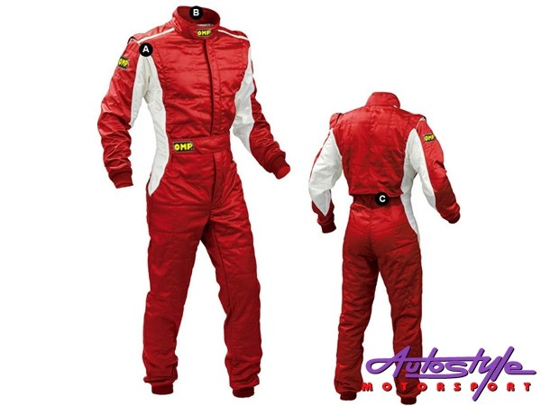 OMP Style Race Jump Suit (extra large - red)