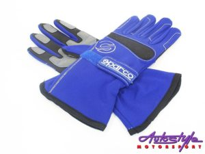 Sparco Blue with Black Trim Racing Gloves (large)-0