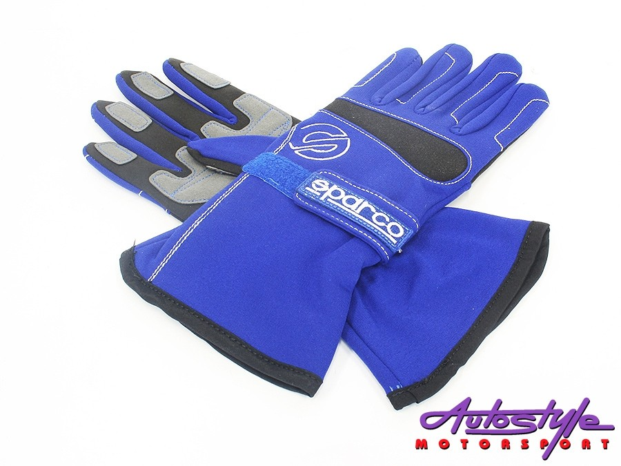 Sparco Blue with Black Trim Racing Gloves (large)